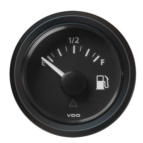 "VDO Marine 2-1\/16"" (52MM) Viewline Fuel Level Gauge Empty\/Full - 8-32V - 240 - 33.5 OHM - Black Dial  Triangular Bezel"