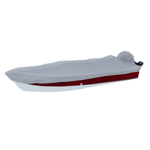 Carver Performance Poly-Guard Styled-to-Fit Boat Cover f\/15.5 V-Hull Side Console Fishing Boats - Grey