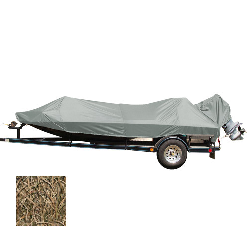 Carver Performance Poly-Guard Styled-to-Fit Boat Cover f\/16.5 Jon Style Bass Boats - Shadow Grass