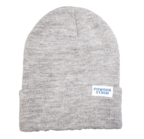 Powder Stash Cuffmaster Flash Beanie - Heather Gray