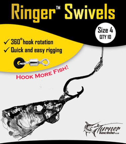Ringer Swivels - Size 4 - 10 Pack
