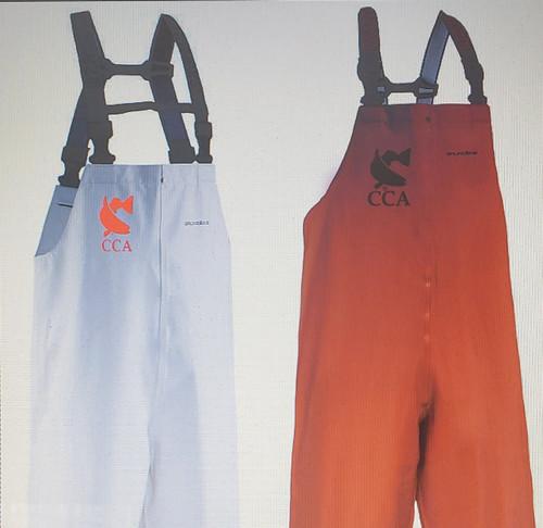 Grundens Clipper 116 Bibs - CCA Logo - Orange -Medium