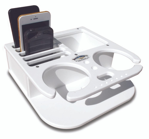 Deep Blue Marine Double Drink and Cell Phone Holder - White (BH-2CELL)