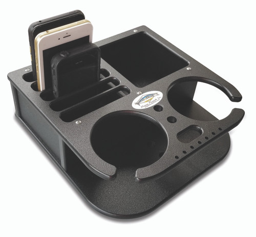 Deep Blue Marine Double Drink and Cell Phone Holder - Black (BH-2CELL)