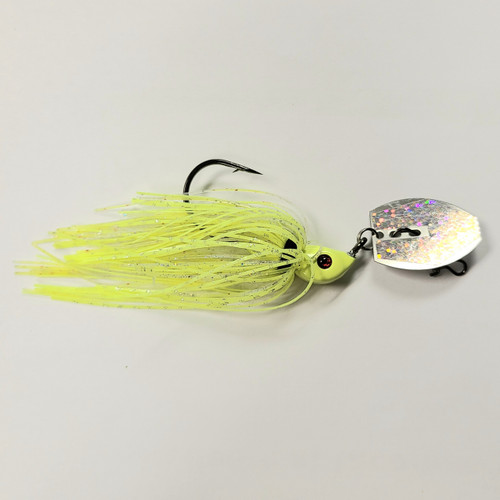 Addiction Baits Thumper Chatter Bait 3/8oz - Chartreuse
