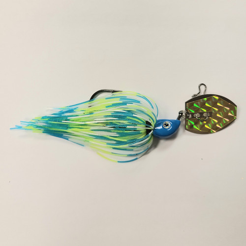 Addiction Baits Thumper Chatter Bait 3/8oz - Blue/Green