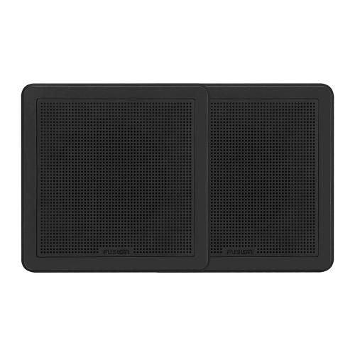 "FUSION FM-65SB FM Series 6.5"" 120 Flush Mount Square Marine Speakers - Black Grill - 120W"