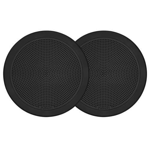 "FUSION FM-F77RB FM Series 7.7"" Flush Mount Round Marine Speakers - Black Grill - 200W"