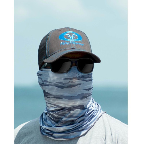 Flying Fisherman Gray Water Camo Sunbandit Buff Mask