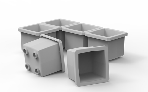 Buzbe Bins - 1x1 6 pack for Colony 28 Tackle Box