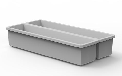 Pack of 2 Customizable 1x4 Modular Internal Bins for use in Colony 28 Modular Tackle Box
