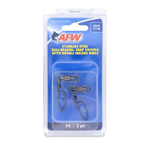 AFW BB #5 Snap Swivel 245lb 2 Pack (FTV245B-A)
