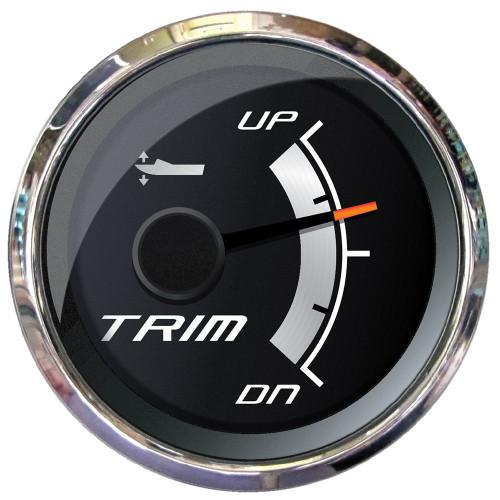 """Faria Platinum 2"""" Trim Gauge f\/Mercury, Mariner, Mercruiser, Volvo DP, Yamaha 2001  Newer"""