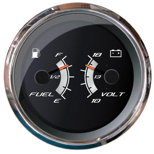 """Faria Platinum 4"""" Multi-Function - Fuel Level  Voltmeter"""