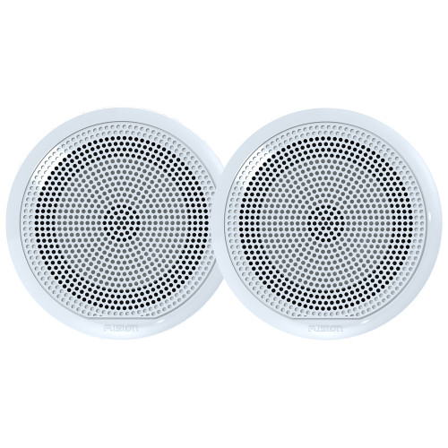 "FUSION EL-F651W EL Series Full Range Shallow Mount Marine White Speakers - 6.5"" w\/ LED Lights"