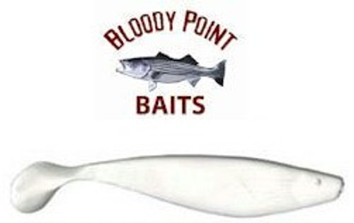 """Bloody Point Shads 4"""" White 25 Pack"""