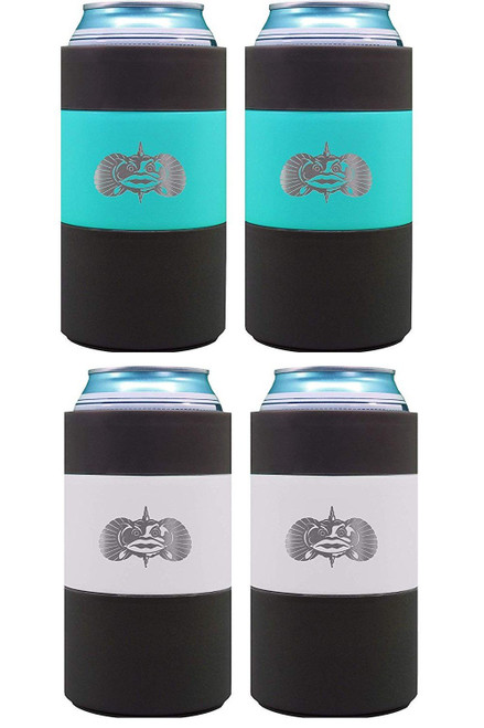 Toadfish Non-Tipping Can Cooler - 4 Pack Bundle