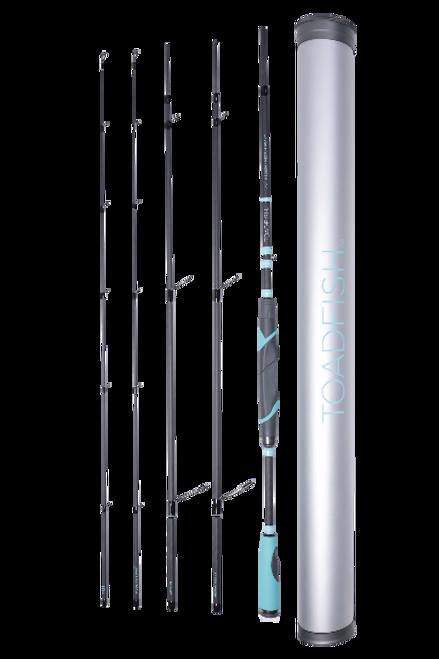 "Toadfish Stowaway Travel Spinning Rod 6' 8"""