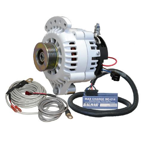 Balmar 621 Series 120A Kit w\/MC-614 Regulator, T-Sensor, K6 Pulley, Single Foot  Mounting Hardware