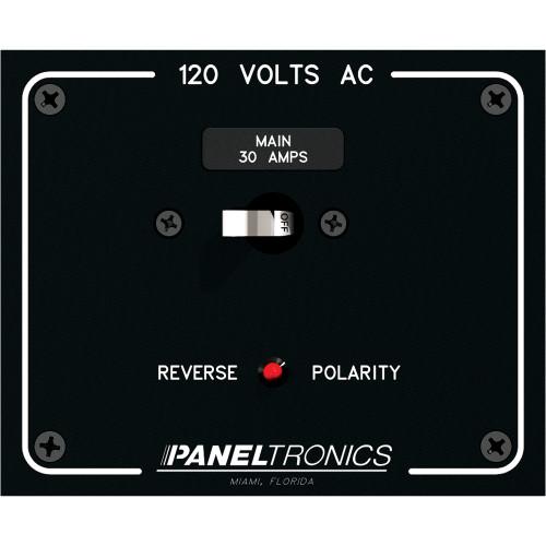 Paneltronics Standard Panel AC Main Double Pole w\/30Amp CB & Reverse Polarity Indicator