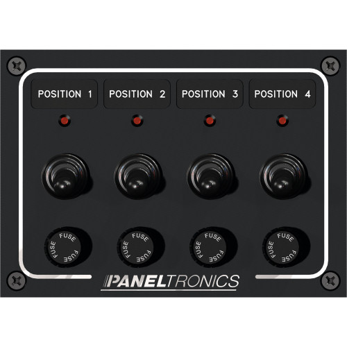 Paneltronics Waterproof Panel - DC 4-Position Toggle Switch & Fuse w\/LEDs