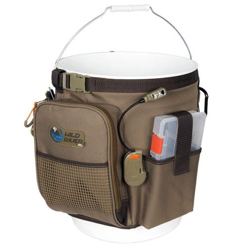 Wild River RIGGER 5 Gallon Bucket Organizer w\/Light, Plier Holder & Retractable Lanyard