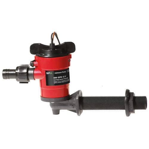 Johnson Pump Cartridge Aerator 500 GPH 90 Degree Intake - 12V