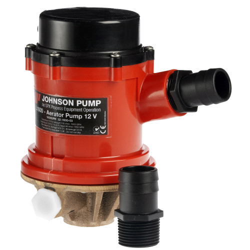 Johnson Pump Pro Series 1600 GPH Livewell\/Baitwell Pump  - 12V