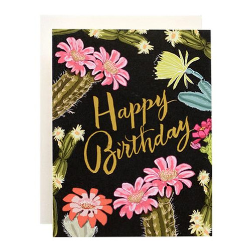 Cactus Bloom Birthday Card