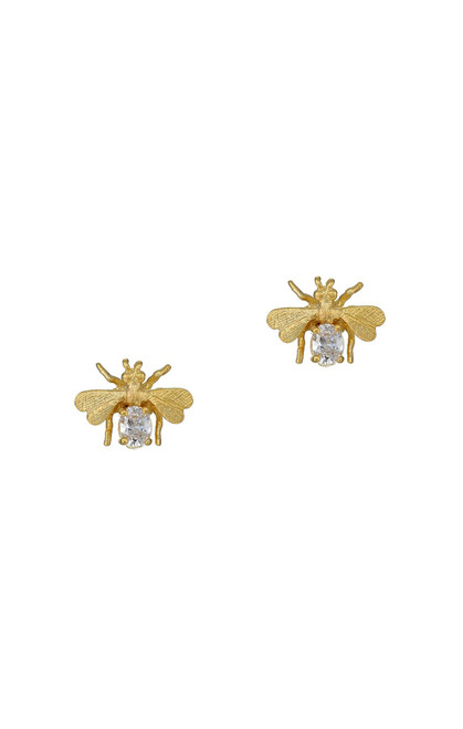 Bee Studs with crystal