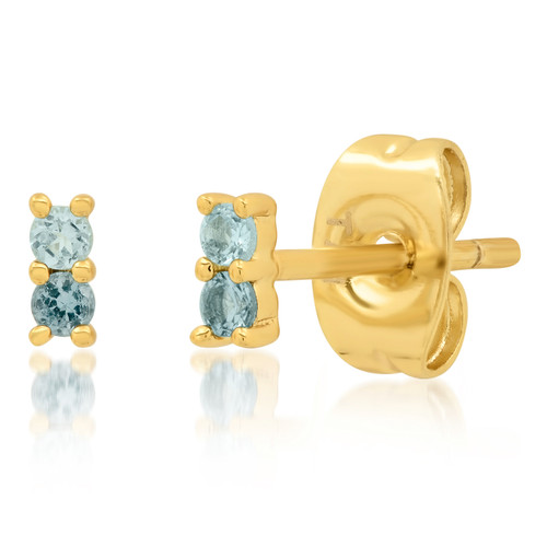 Mini Blue Ombre Studs