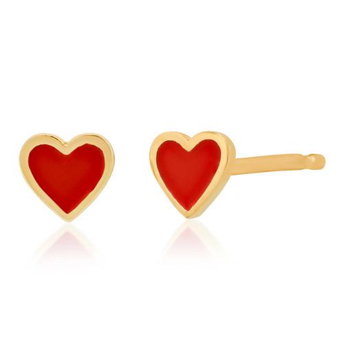 Enamel Heart Stud