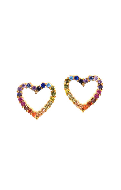 Heart Mini Rainbow Studs