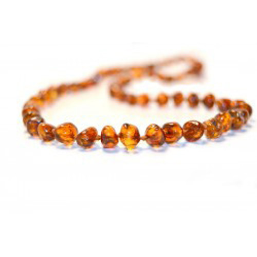 Amber Bead Teething Necklace