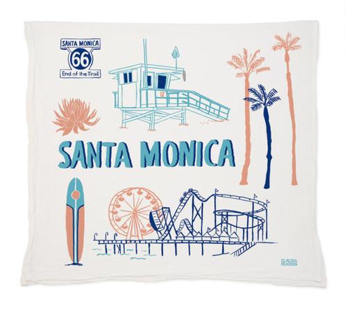 Claudia Pearson Santa Monica Tea Towel