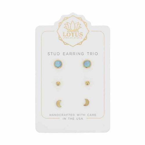 Opal Stud Trio