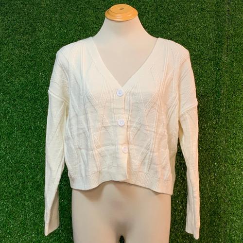Essence Knit Cardi, Cream