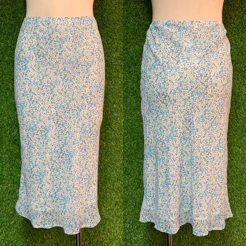 Daisy Blue Midi Skirt