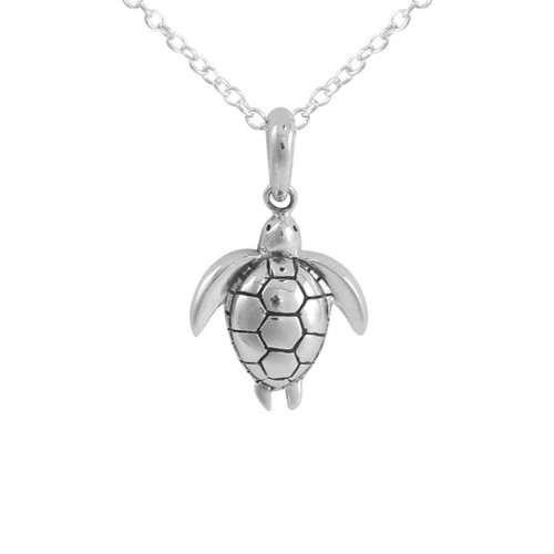 Midsummer Star - Long Reef Turtle Necklace