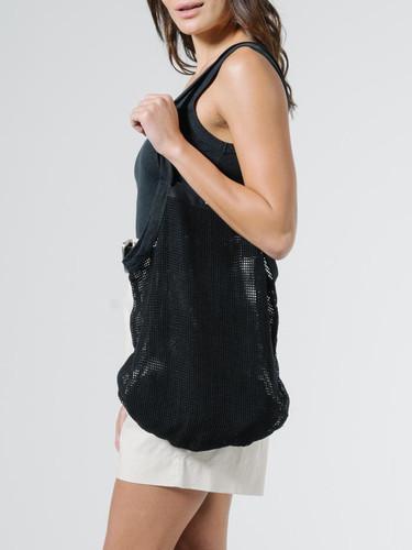 Thrills - Mesh Slouch Bag, Black