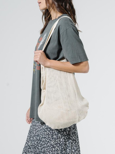 Thrills - Mesh Slouch Bag, Unbleached