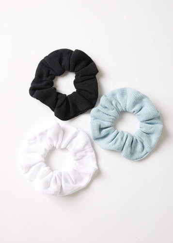 Afends - Erin Waffle Scrunchies 3pck