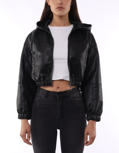 Silent Theory - Pleather Driver Jacket, Black