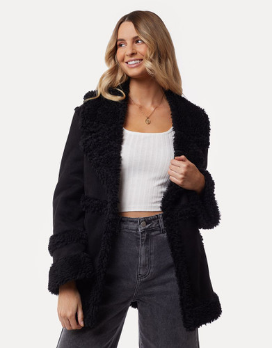 All About Eve - 70's Shearling Jacket, Black