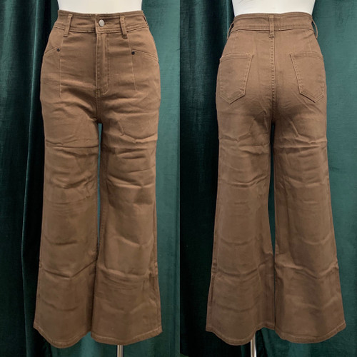 Merlo Cropped Jean, Chocolate