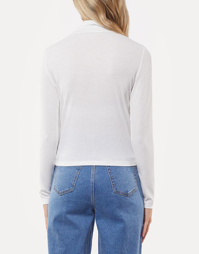All About Eve - Skylar High Neck Top, White