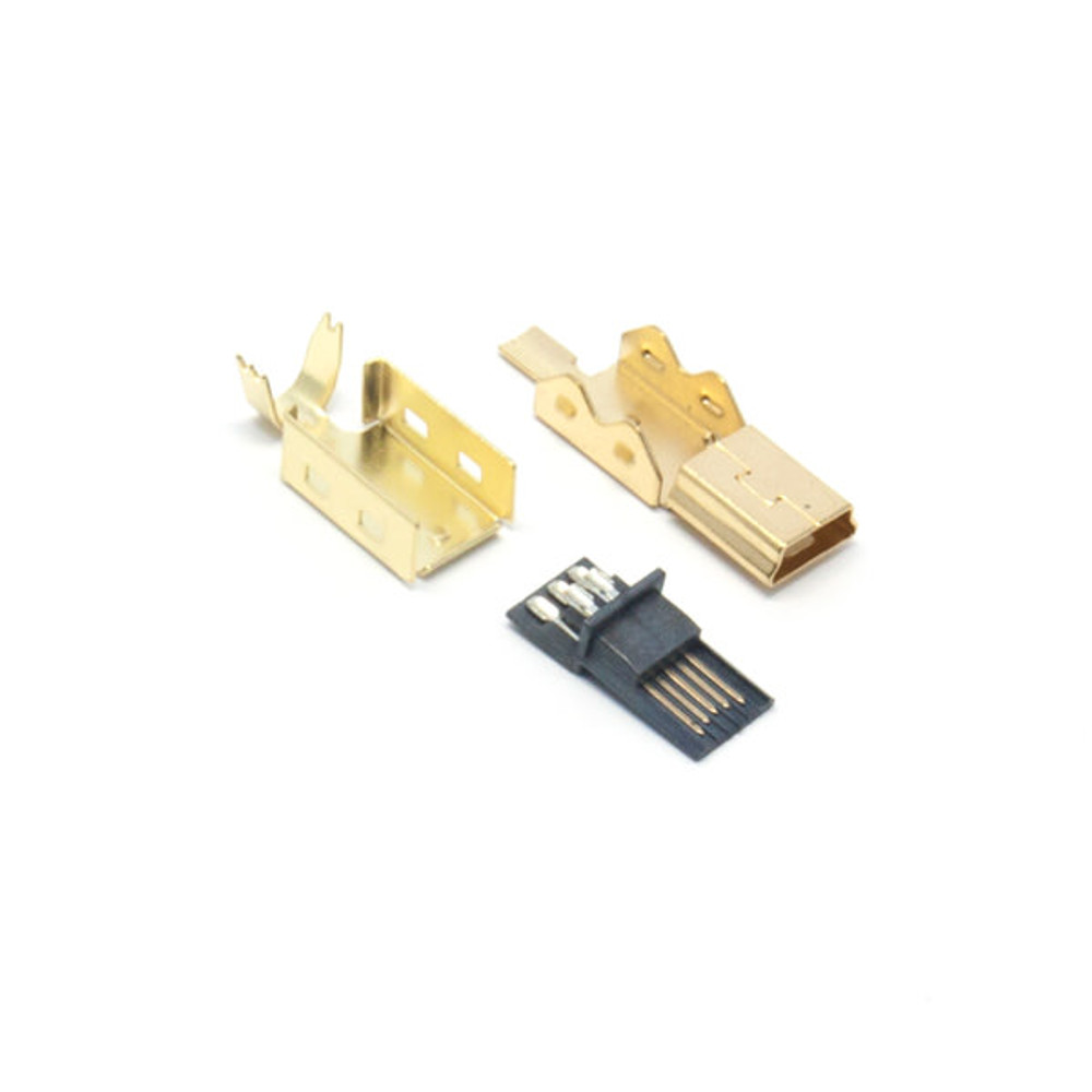Mini-USB Gold Connector