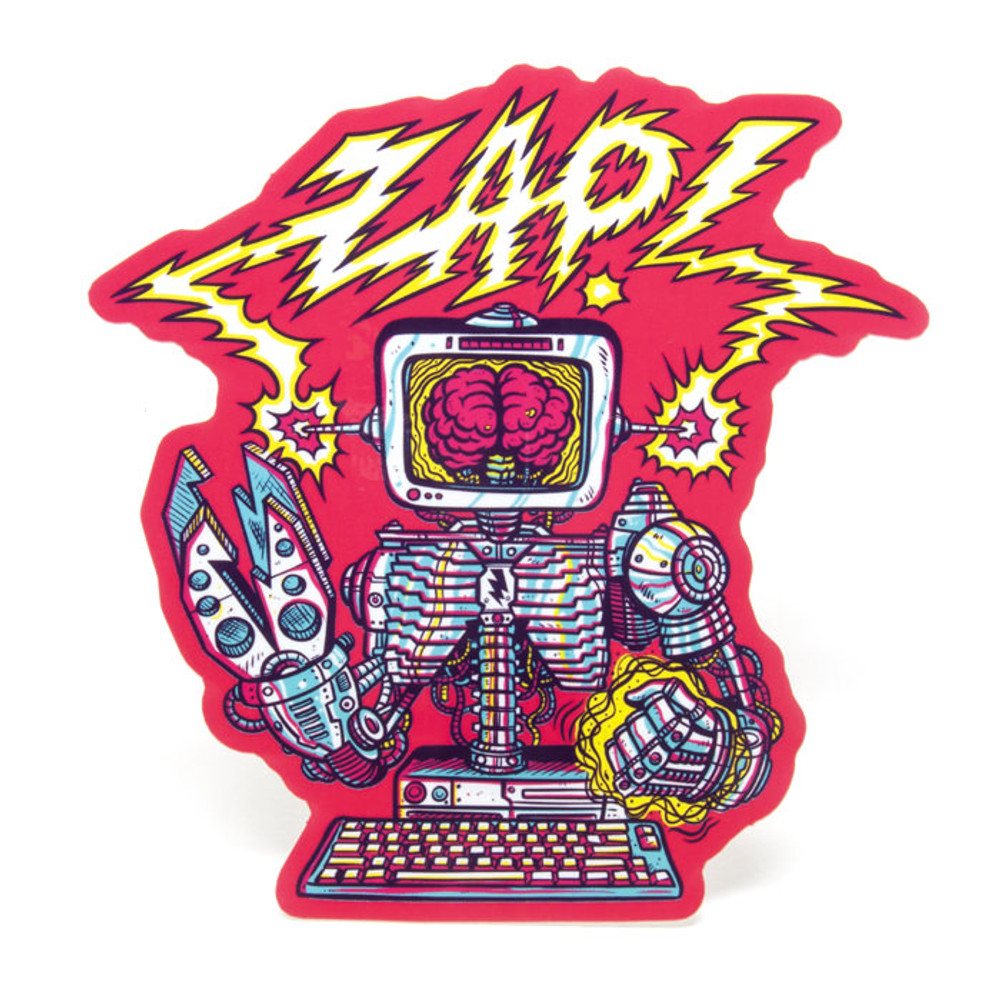 Robo-Zap Sticker