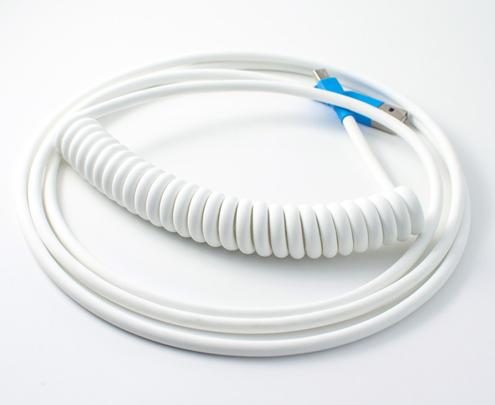 """White """"Old School"""" Retractable Cable"""