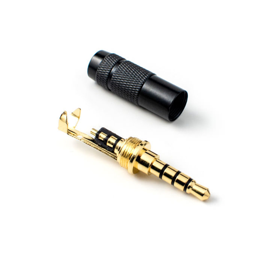 TRRS Connector (Black & Gold)